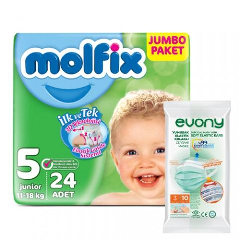 Molfix Jumbo Maxi No:5 +...