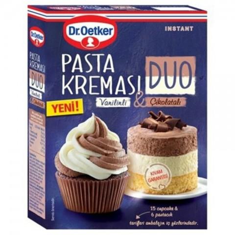 Dr.Oetker Duo Pasta Kreması Çikolatalı-Vanilin 158 Gr