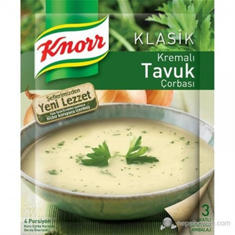 Knorr Kremalı Tavuk Çorbası 12'li