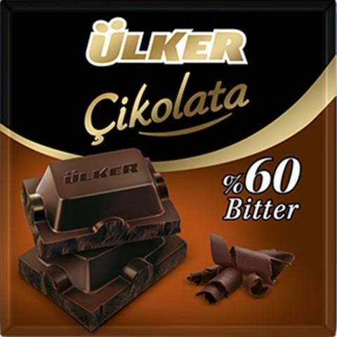 Ülker Kare Çikolata Bitter % 60