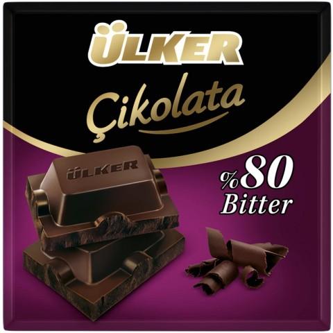 Ülker Kare Çikolata Bitter %80