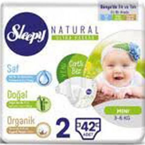 Sleepy Çocuk Bezi Mini Natural No: 2 42'li