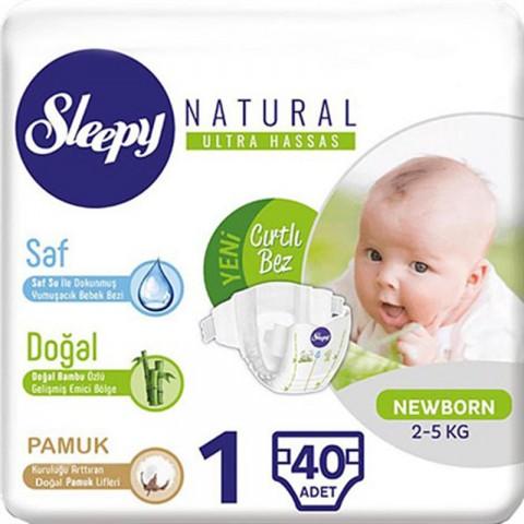 Sleepy Çocuk Bezi Yeni Doğan No: 1 40'lı